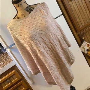 White House Black Market knit poncho size large